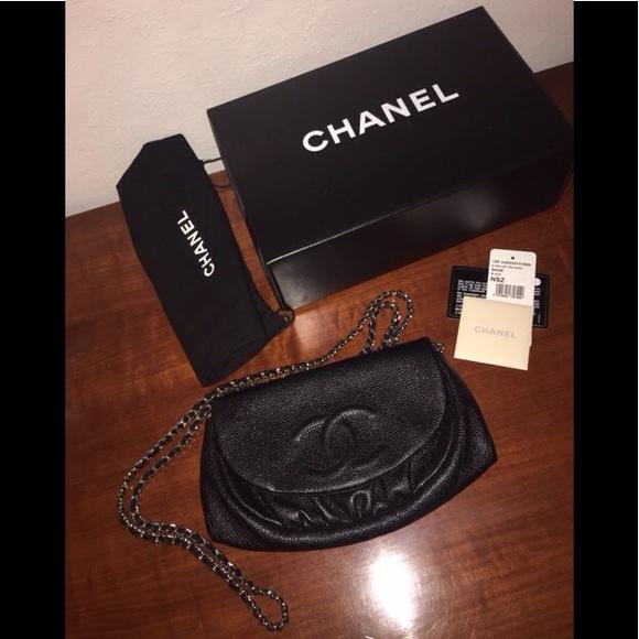 6acca2d0af3b CHANEL Bags | Caviar Half Moon Wallet On Chain Woc | Poshmark